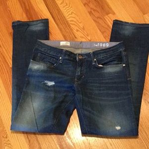 GAP 1969 Easy Straight destructed Jeans